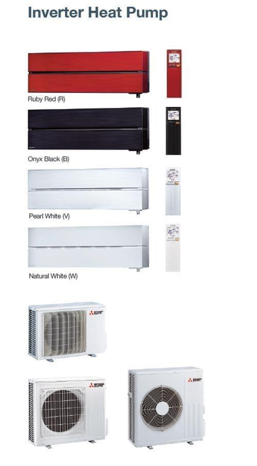 Mitsubishi Electric Air Conditioning MSZ-LN25VG2 2.5Kw/9000Btu R32 Heat Pump Wall Install Pack